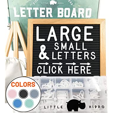 Felt Letter Board 10x10 | +690 PRE-Cut Letters +Stand +Sorting Tray | (Black) Letter Board with Letters, Letters Board, Letter Boards, letterboard, Word Board, Message Board, Letter Sign, Changeable