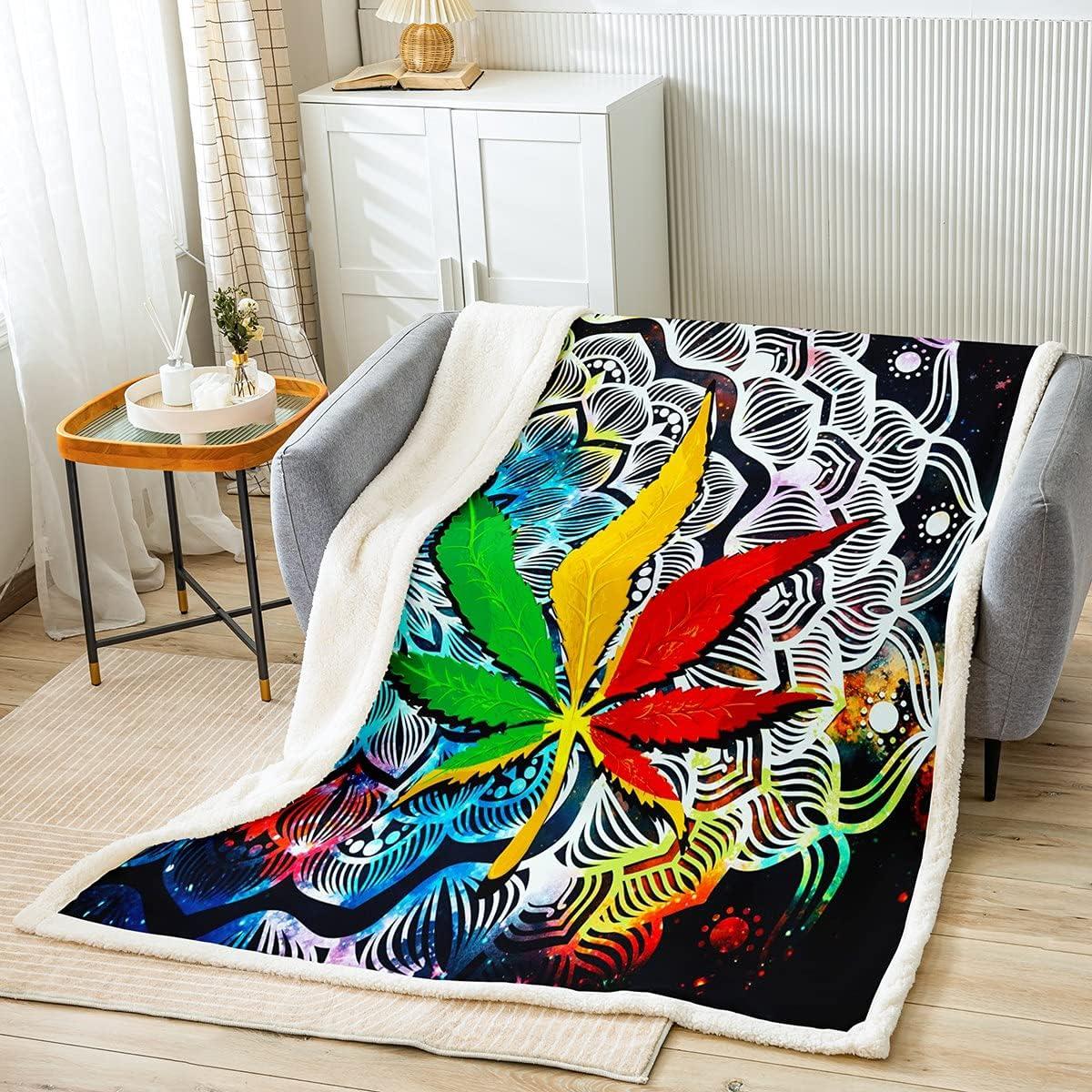 Castle Fairy Home Marijuana Weed Throw Ranking 70% OFF Outlet TOP13 Blanket Blan Mandala Boho