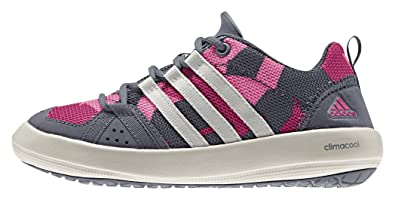 fbf0f7952d9d45 adidas Unisex Kids  Climacool Boat Lace K Boating Shoes Grey Size  5.5 UK