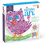 Craft-Tastic String Art Kit lV - Craft Kit Makes 3 Large String Art Canvases