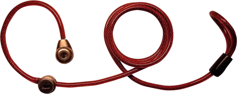 red LYSB01H2QHB92-OFFSUPPLIES Keyed Locking Luggage Lanyard-International Travel Companion