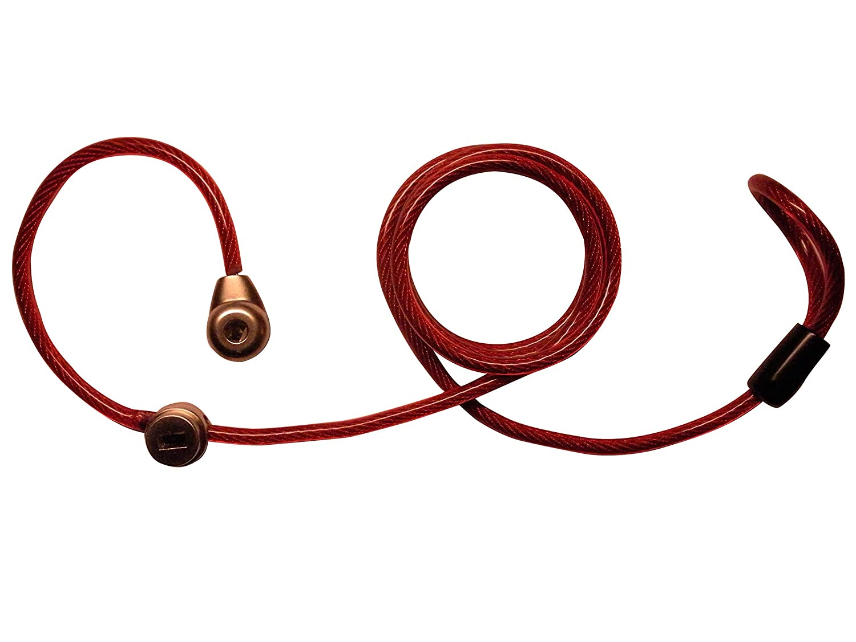 LYSB01H2QHB92-OFFSUPPLIES red Keyed Locking Luggage Lanyard-International Travel Companion