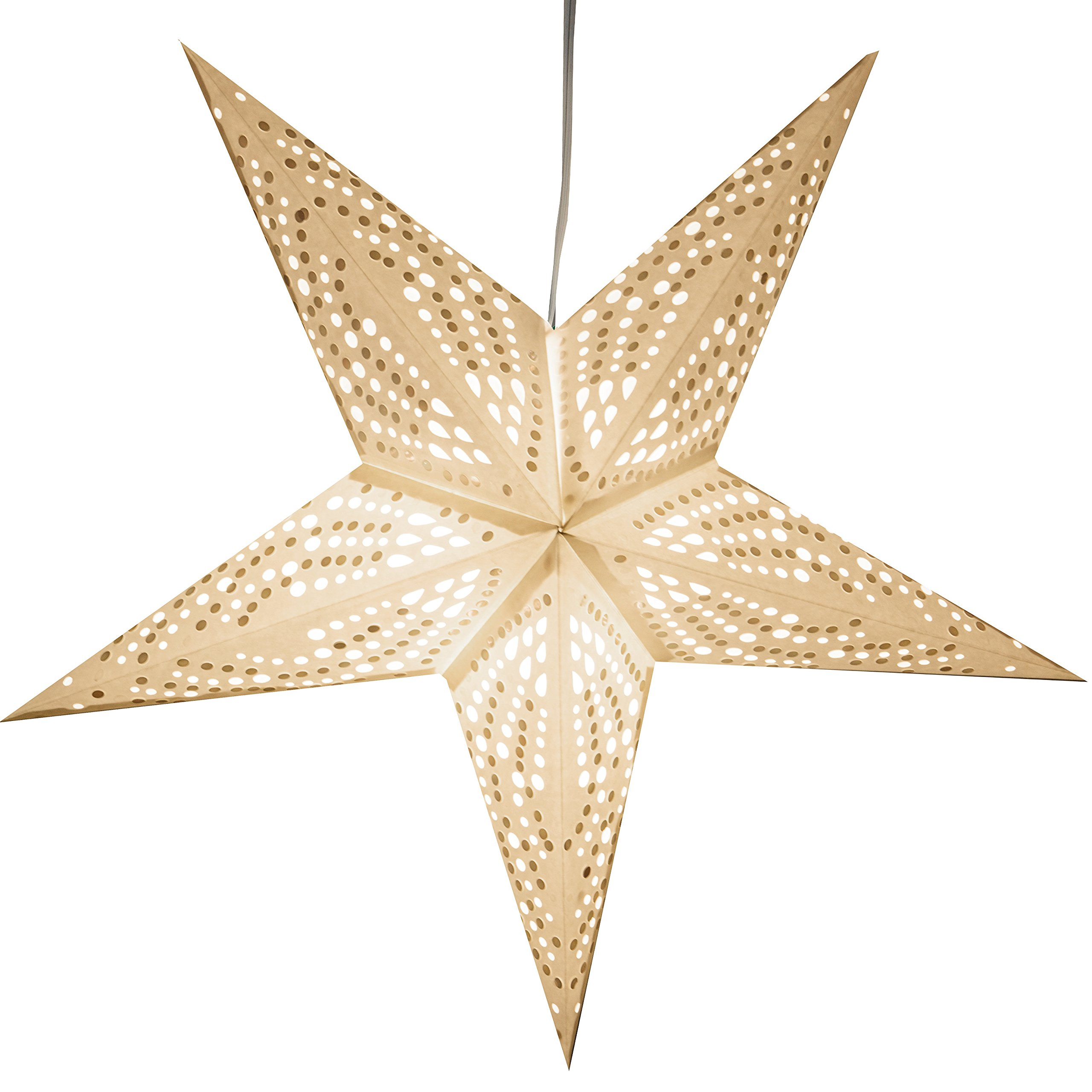 Frozen Paper Star Light Lamp Lantern with 12 Foot Power Cord Included