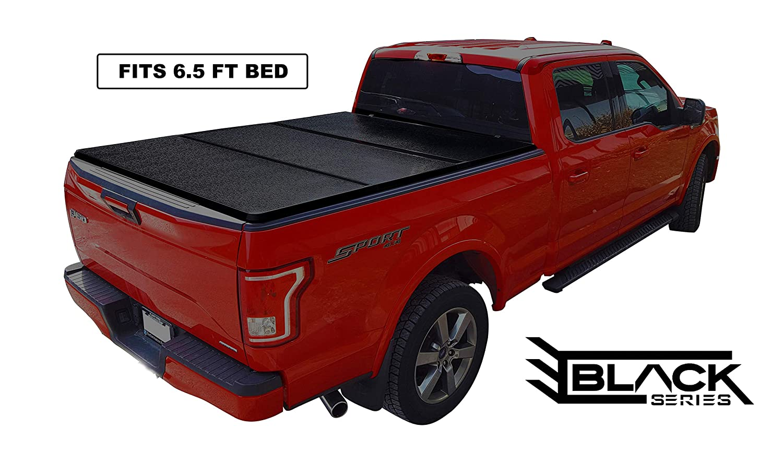 Ford Truck Enthusiast >> Amazon Com Black Series Ford F150 Hard Tri Fold Solid Tonneau