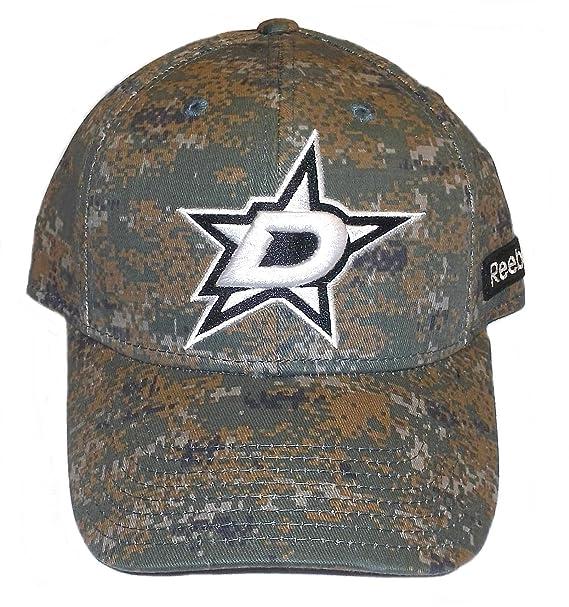 low priced 6d259 fb62c Dallas Stars Reebok Camouflage Flex Fit Hat S M