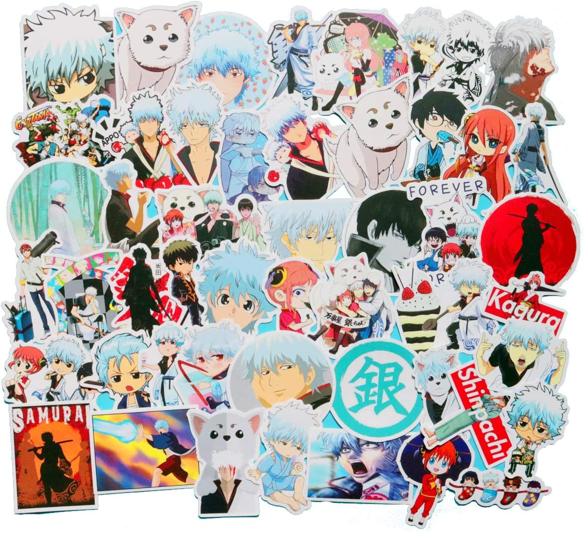 Amazon Com Gintama Sticker Pack Of 50 Stickers Waterproof Durable Stickers Classic Japanese Anime Stickers For Laptops Computers Water Bottles Gintama Arts Crafts Sewing
