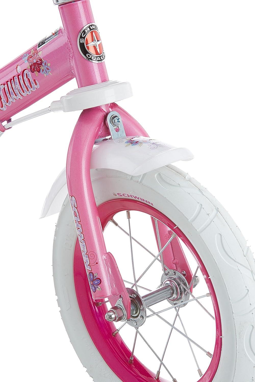 fa737c6ff7b Amazon.com : Schwinn Petunia Girl's Steerable Bike With Training Wheels, 12-Inch  Wheels, Pink/White : Childrens Bicycles : Sports & Outdoors