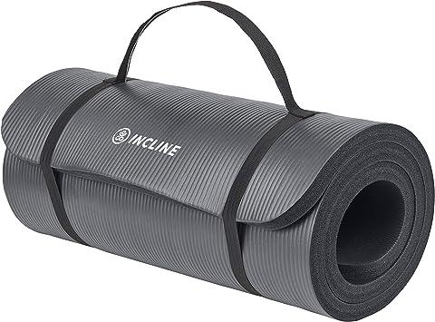 Amazon.com: Alfombrilla de ejercicio con correa para yoga ...