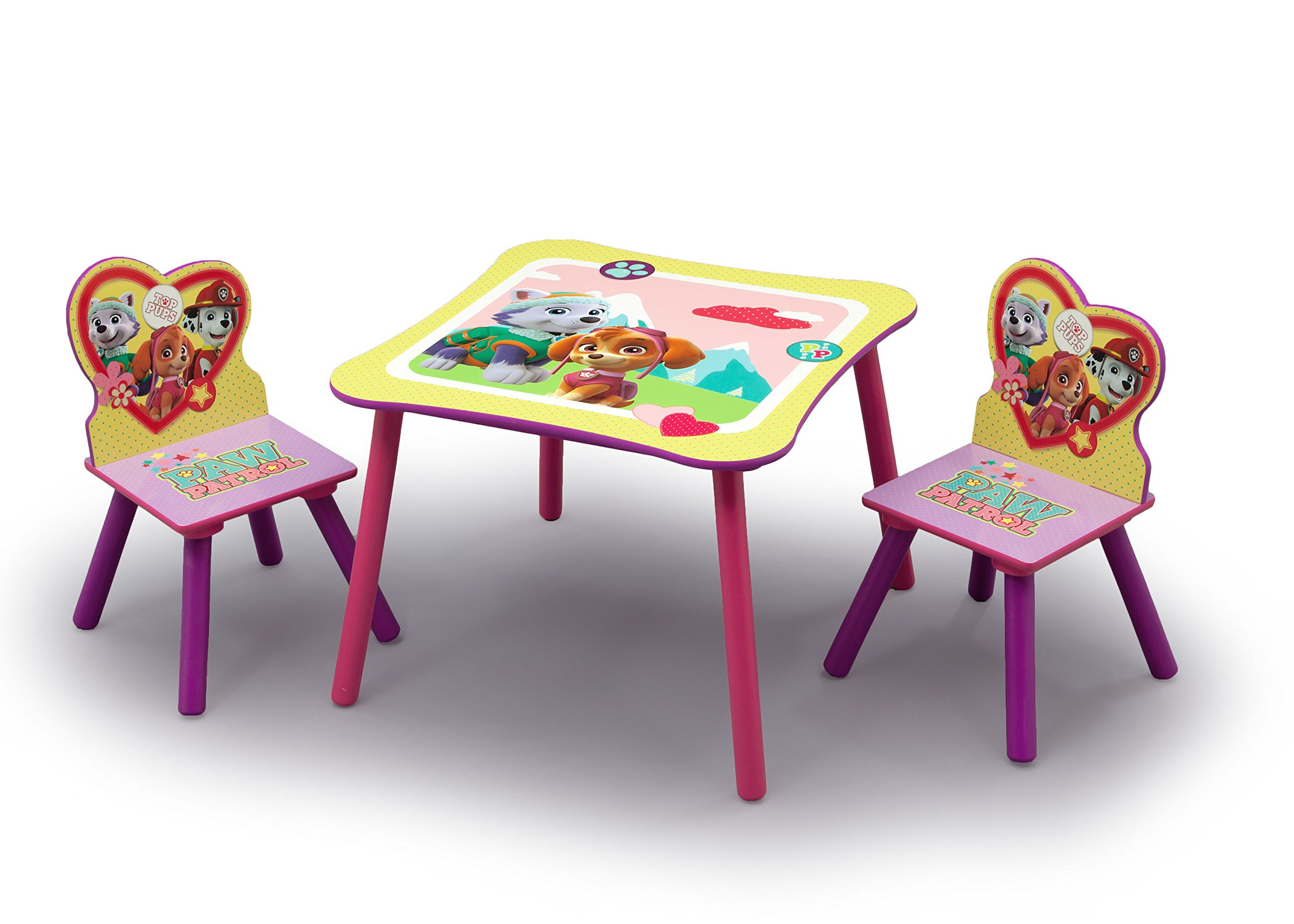 Nick Jr. PAW Patrol - Skye and Everest - Kids Table and Chairs Set by Delta Children by Delta Children