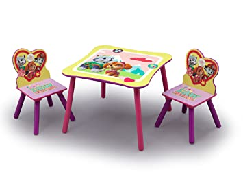 Excellent Nick Jr Paw Patrol Skye And Everest Kids Table And Chairs Set By Delta Children Creativecarmelina Interior Chair Design Creativecarmelinacom