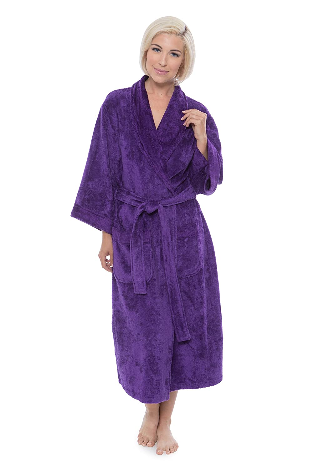 Women's Terry Cloth Bath Robe - Luxury Comfy Robes by Texere (Sitkimono)