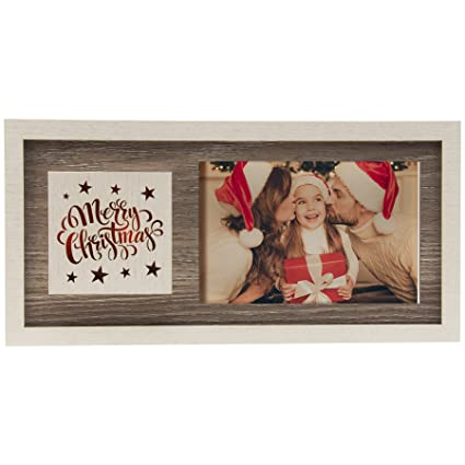 Amazon Light Up Merry Christmas Wood Picture Frame