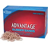 "Alliance Rubber 26105 Advantage Rubber Bands Size #10, 1 lb Box Contains Approx. 3700 Bands (1 1/4"" x 1/16"", Natural Crepe)"