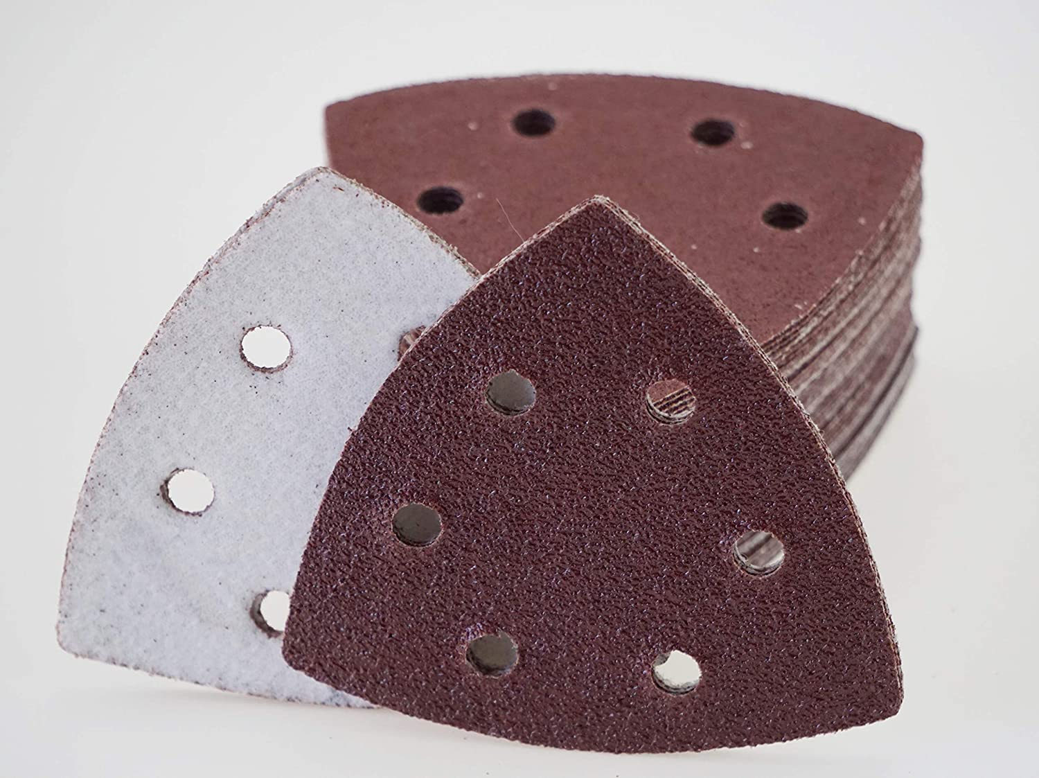 180-Grit 120/ Sheets Velcro Sanding Triangles for Tri-Base Sander 93/ x 93/ x 93/ mm 6/ Holes Grit 20/ Each of 40//60/ Grain 120-Grit 80-Grit 240/ Grain//Delta Sander//sanding Disks 93//Sandpaper