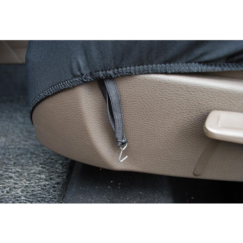 WOLTU AS7304 Set Completo di Coprisedili per Auto Macchina Seat Cover Universali Protezione per Sedile di Poliestere con Ricamo Farfalle Nero