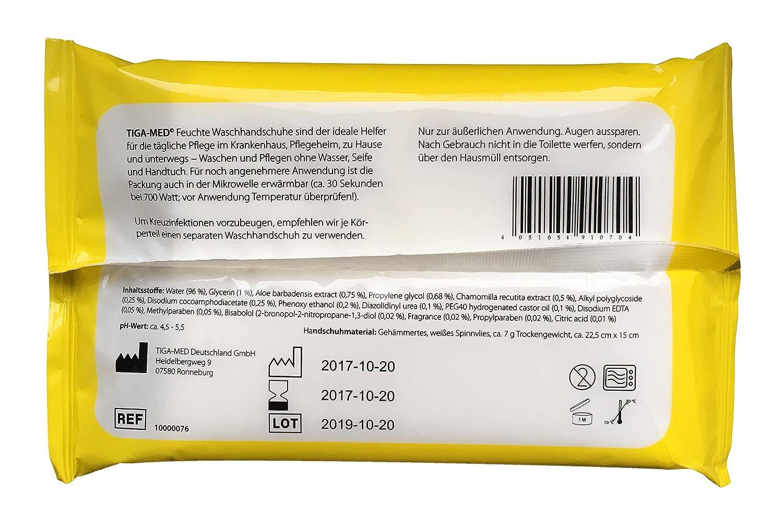 Manoplas una vez húmedas desechables 1 Pack=8 unidades Manopla con aloe vera imprägnierte: Amazon.es: Salud y cuidado personal