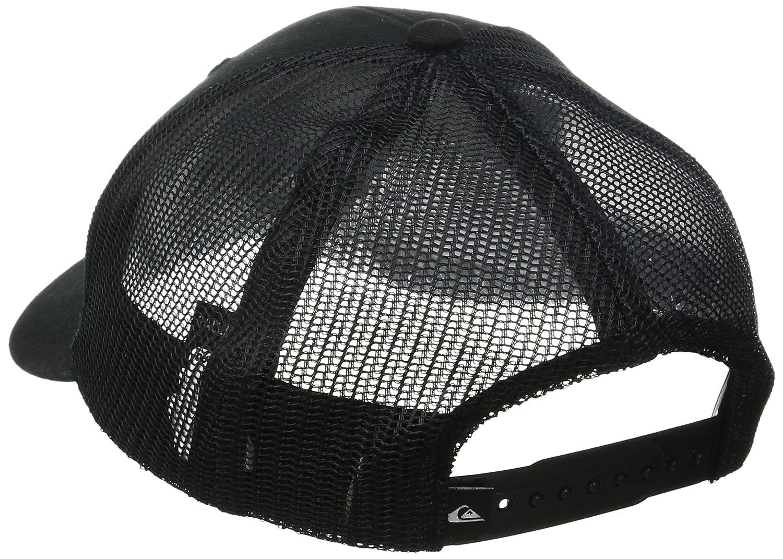 low priced d6ddf 326e2 ... germany amazon quiksilver mens destril trucker hat black one size  clothing 7d0e2 1760c