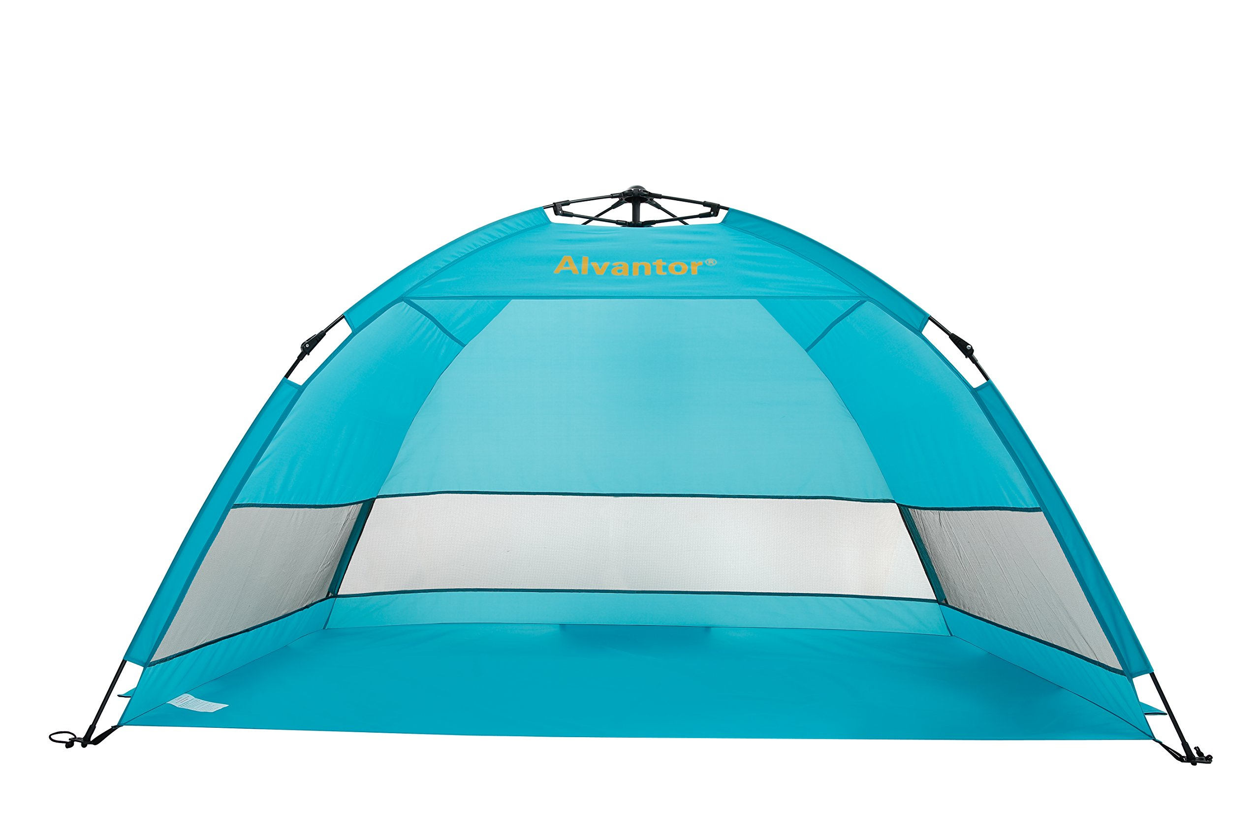 LEEDOR Beach Tent Umbrella Outdoor Sun Shelter Cabana Automatic Pop Up UPF 50+ Sun Shade Portable Camping Fishing Hiking Canopy Easy Setup Windproof Patent Pending 3 or 4 Person