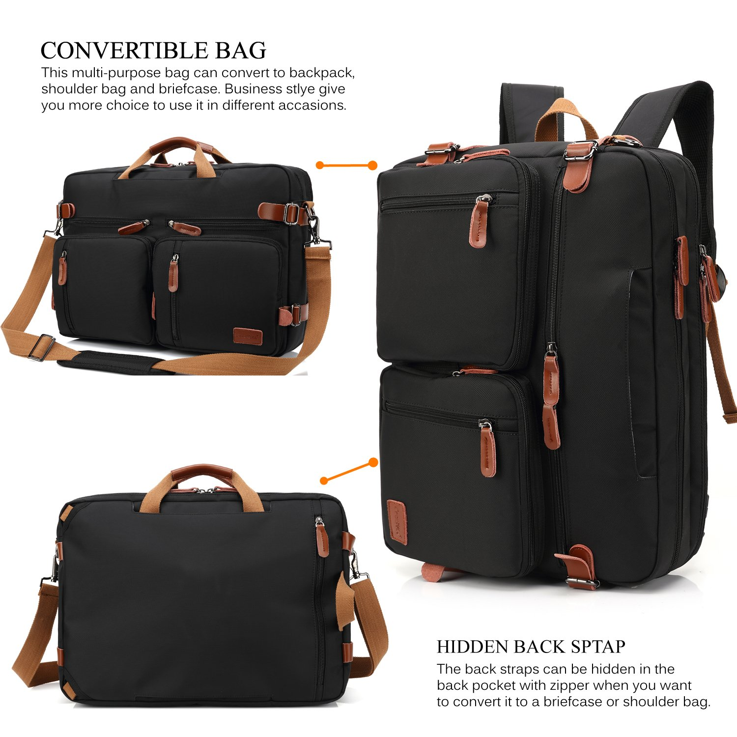 Finest Amazon.com: CoolBELL Convertible Backpack Messenger Bag Shoulder  GZ76