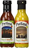 Organic Natural Ketchup and Mustard Set: Portland (Ketchup 14oz/Mustard 13oz) Gluten-Free Organic ingredients Vegan No-GMOs