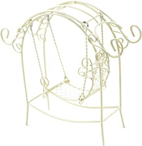 Touch of Nature Garden Arch with Swing, Mini, Cream
