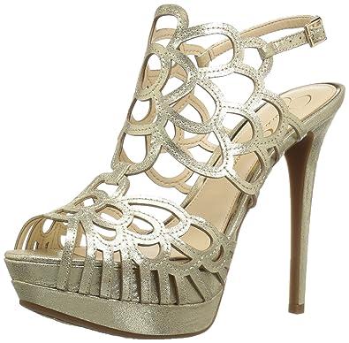 Jessica Simpson Women's Weslynn Platform Pump, Pale Gold, ...