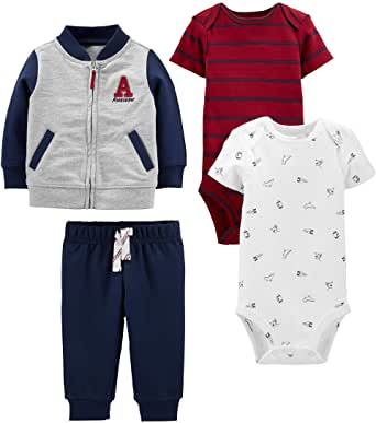 Simple Joys by Carter's 4-Piece Fleece Jacket, Pant, and Bodysuit Set Bebé-Niños
