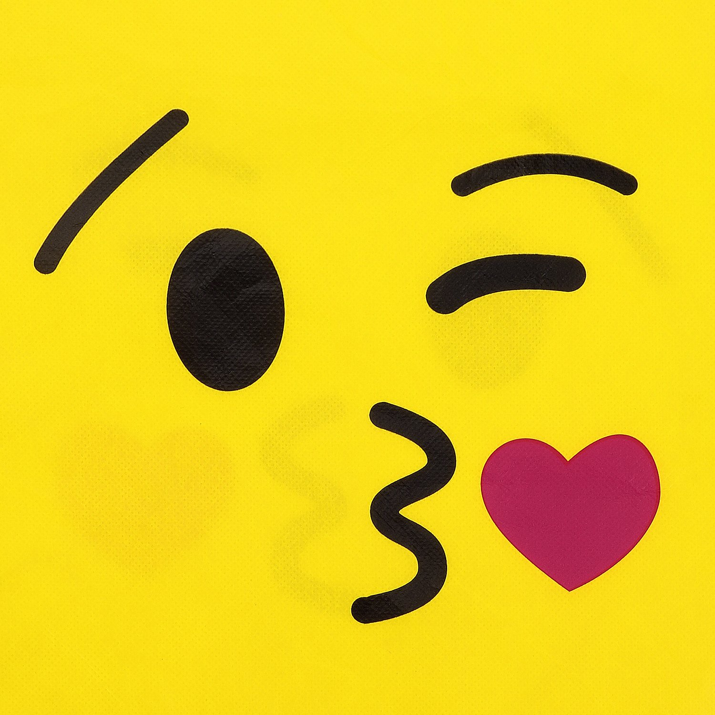 Konsait Emoji Bags for Emoji Party Supplies(12Pack), Emoji Drawstring Backpack Shoulder Bag Bulk Assorted Emoticon Party for Boys Girls Kids Birthday Candy Baby Shower Emoji Party Favors Gift by Konsait (Image #7)