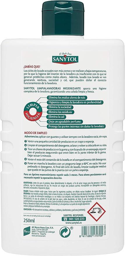 Sanytol - Limpia Lavadoras Higienizante - Pack de 6 Envases de ...
