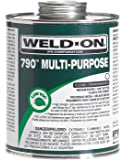 Weld-On 10260 1/4 Pint 790 Multi-Purpose PVC Cement, Clear,4 fl.Oz, 1-Pack