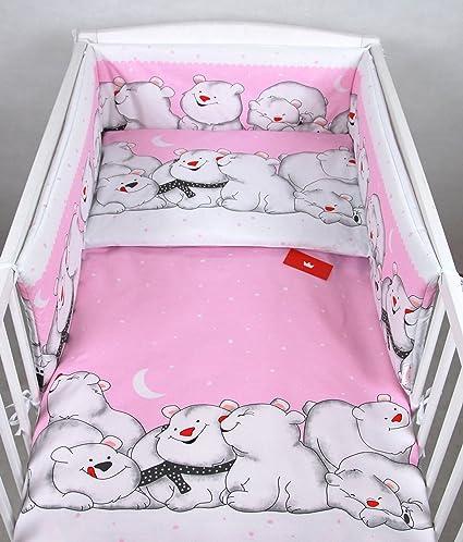 Baby Lux Nido 210 x 30 cm Cama Nido con el marco de protección rosa ...