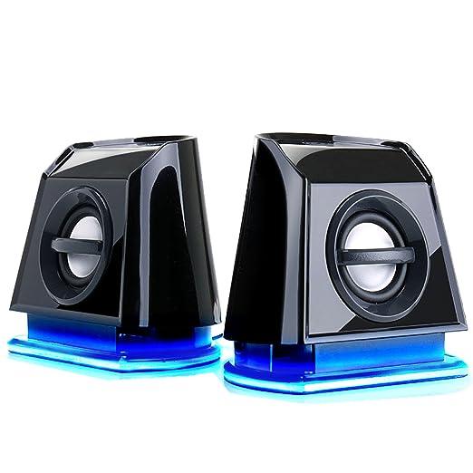 10 opinioni per GOgroove Gaming Altoparlanti Stereo Multimediali con Luci LED Blu , BASSI