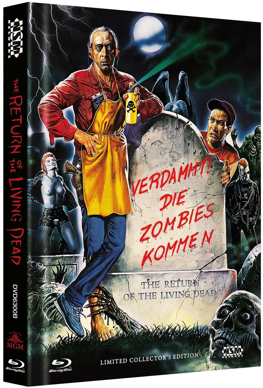 The Return of the living Dead - uncut Blu-Ray+DVD auf 555 limitiertes Mediabook Cover B Limited Collectors Edition Alemania Blu-ray: Amazon.es: Clu Gulager, James Karen, Don Calfa, Thom Mathews, Beverly Randolph, John