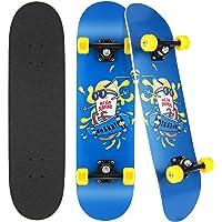 Hikole Completo Skateboard para Principiantes, 80 x 20 cm, Adecuado para Niños, Adolescentes, Principiantes y…