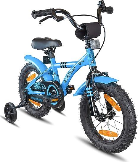 Prometheus Bicicleta Infantil | 14 Pulgadas | niño y niña | Azul ...
