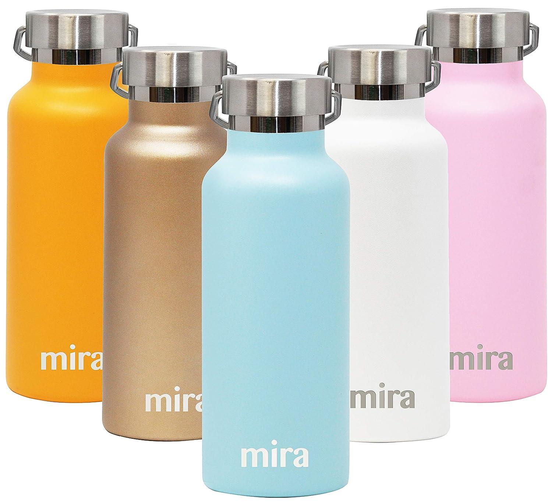 MIRA - Botella de agua deportiva aislada al vacío de acero ...