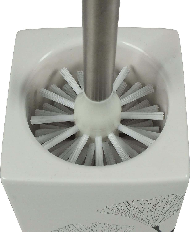 Bianco SHD Colore Spazzolone WC Ovale in Ceramica
