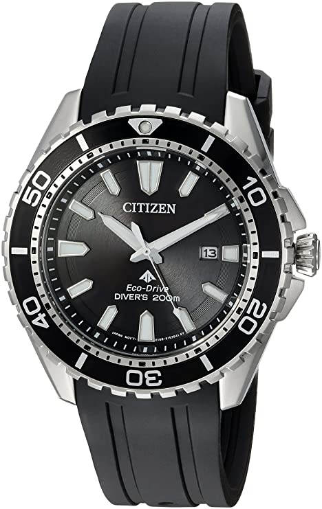 9. Citizen Men's Eco-Drive Quartz Diving Watch (BN0190-07E)