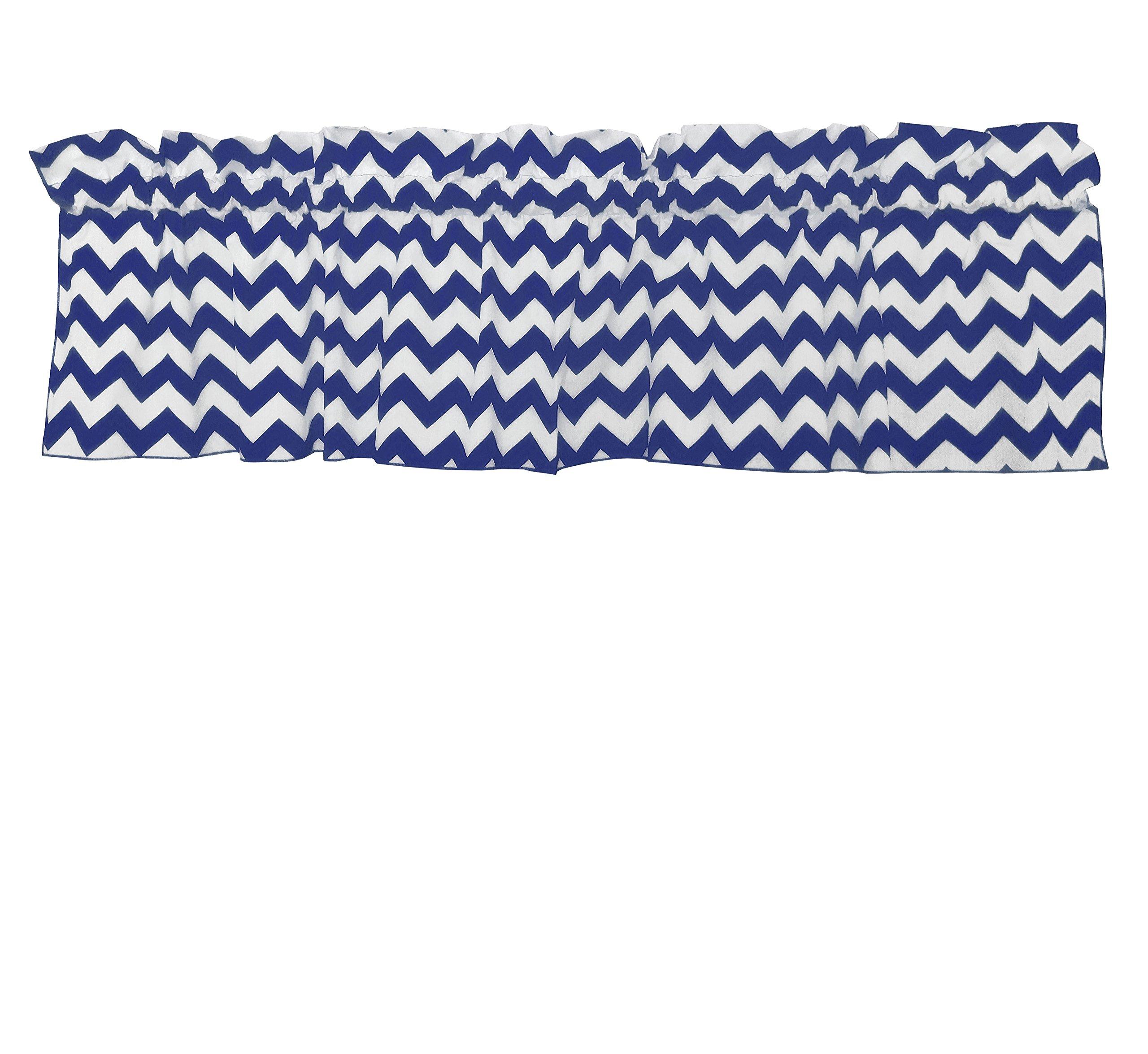 Zen Creative Designs Premium Cotton Curtain Valance / Window Decor / Window Treatments (24 Inch x 58 Inch, Navy) by Zen Creative Designs