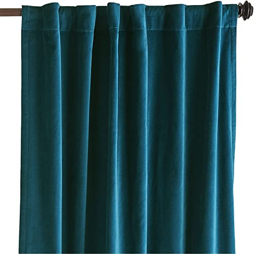 Amazon.com: Velvet Curtains/Drapes, MIDNIGHT BLUE/TEAL Color, Window ...