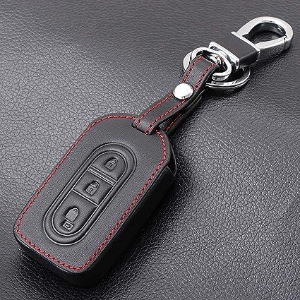BYSDSG para 3 Botones de Cuero del Coche Remoto Key Fob ...