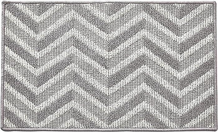 """Arock Indoor Door Mats - Non Slip & Odorless Doormat, Absorbent Resist Dirt Home Entrance Rug, Machine Washable Easy Clean Low-Profile Dirts Trapper Inside Plain Floor Mat - 20""""x32"""", Grey"""