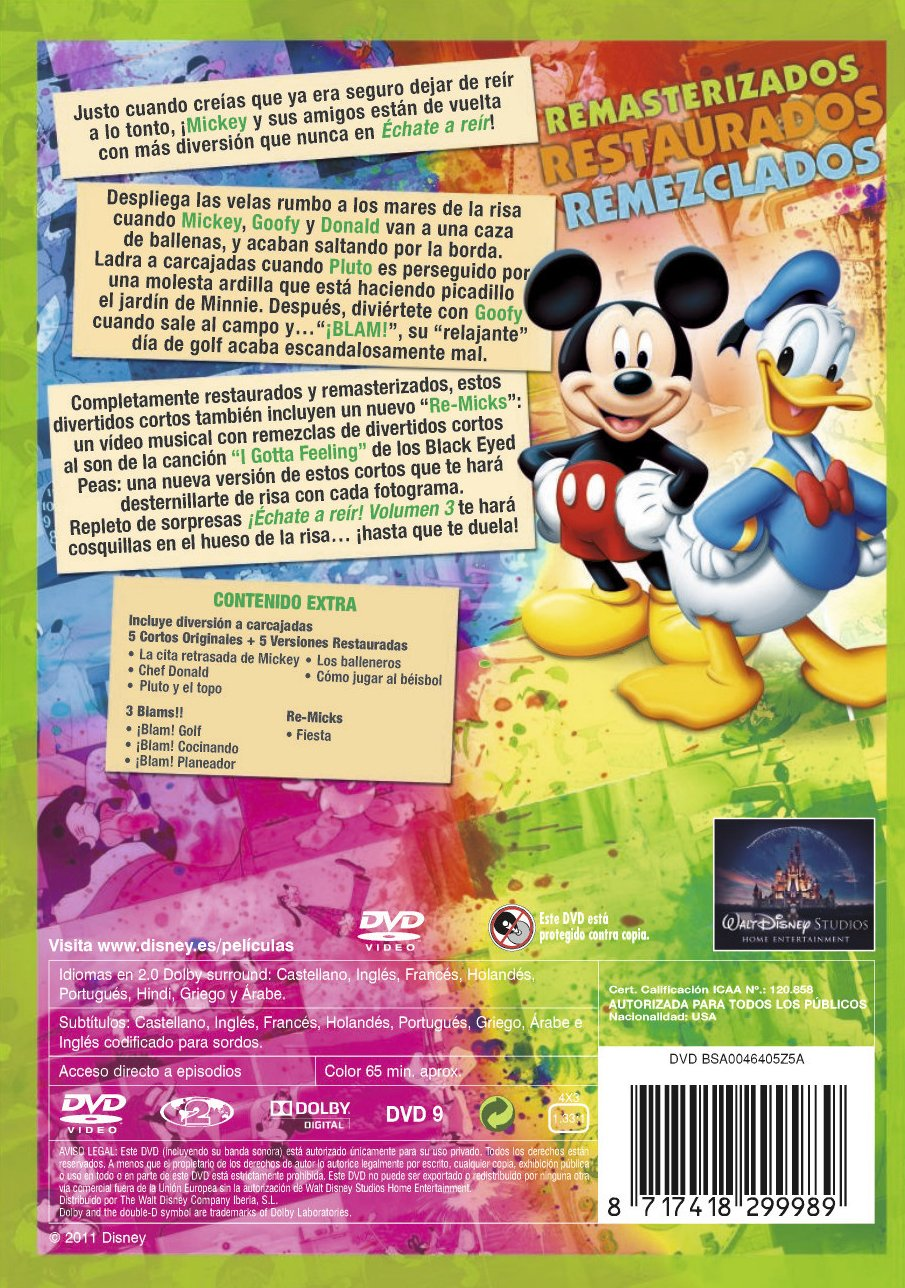 Amazon.com: Echate A Reir Con Mickey Vol 3 (Import Movie) (European Format - Zone 2) (2011) Varios: Movies & TV