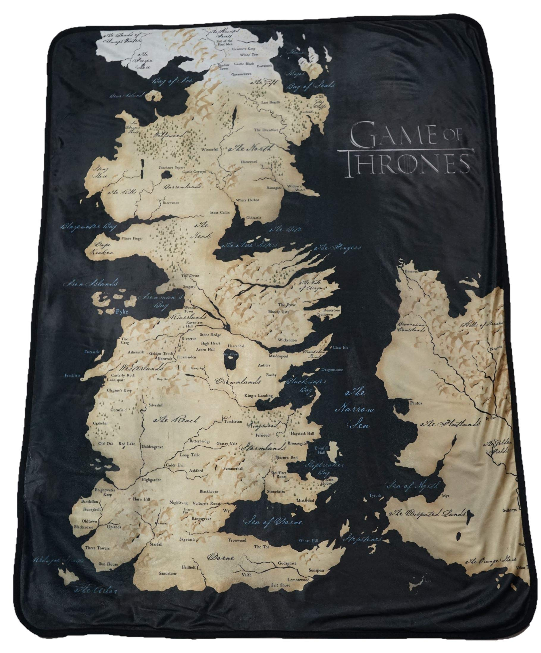 Rabbit Tanaka Game Thrones 46'' X 60'' Map Fleece Throw Blanket