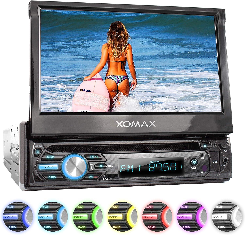 XOMAX XM-D750 Radio de Coche con Pantalla táctil de 18 cm / 7