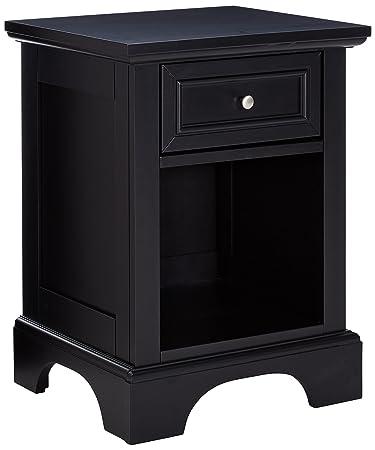 Amazon.com: Home styles Bedford 1 cajón, mesita de noche ...