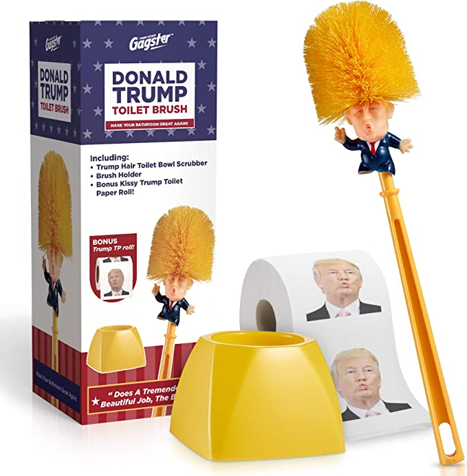 Funny Cleaner Scrubber Donald Trump Hand Made Toilet Bowl Brush Funny Gag Gift
