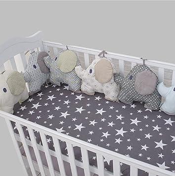 Amazon.com: Vesubio 6pcs para cama de bebé cojín del ...