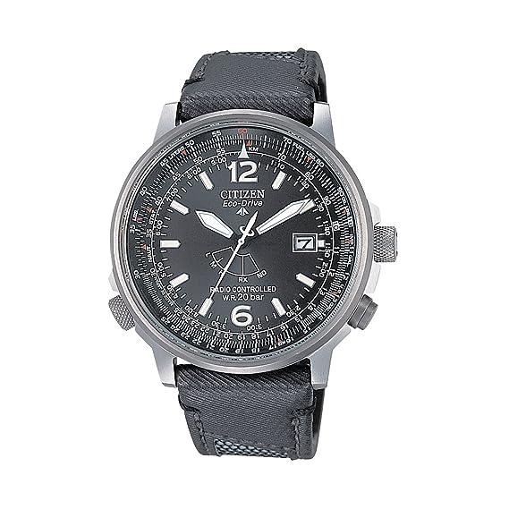 Citizen AS2020-02E Eco-Drive Pilot - Reloj cronógrafo radiocontrolado