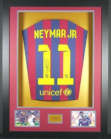 Neymar Jr Barcelona SIGNED Shirt, 3D-Rahmen Display mit ...